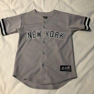 Grey Majestic New York Yankees Away Jersey